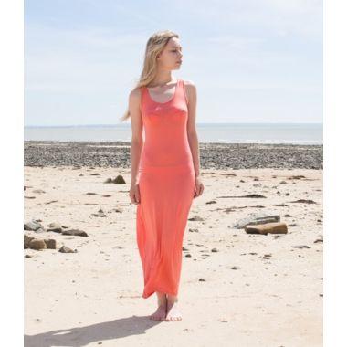 Robe de plage corail