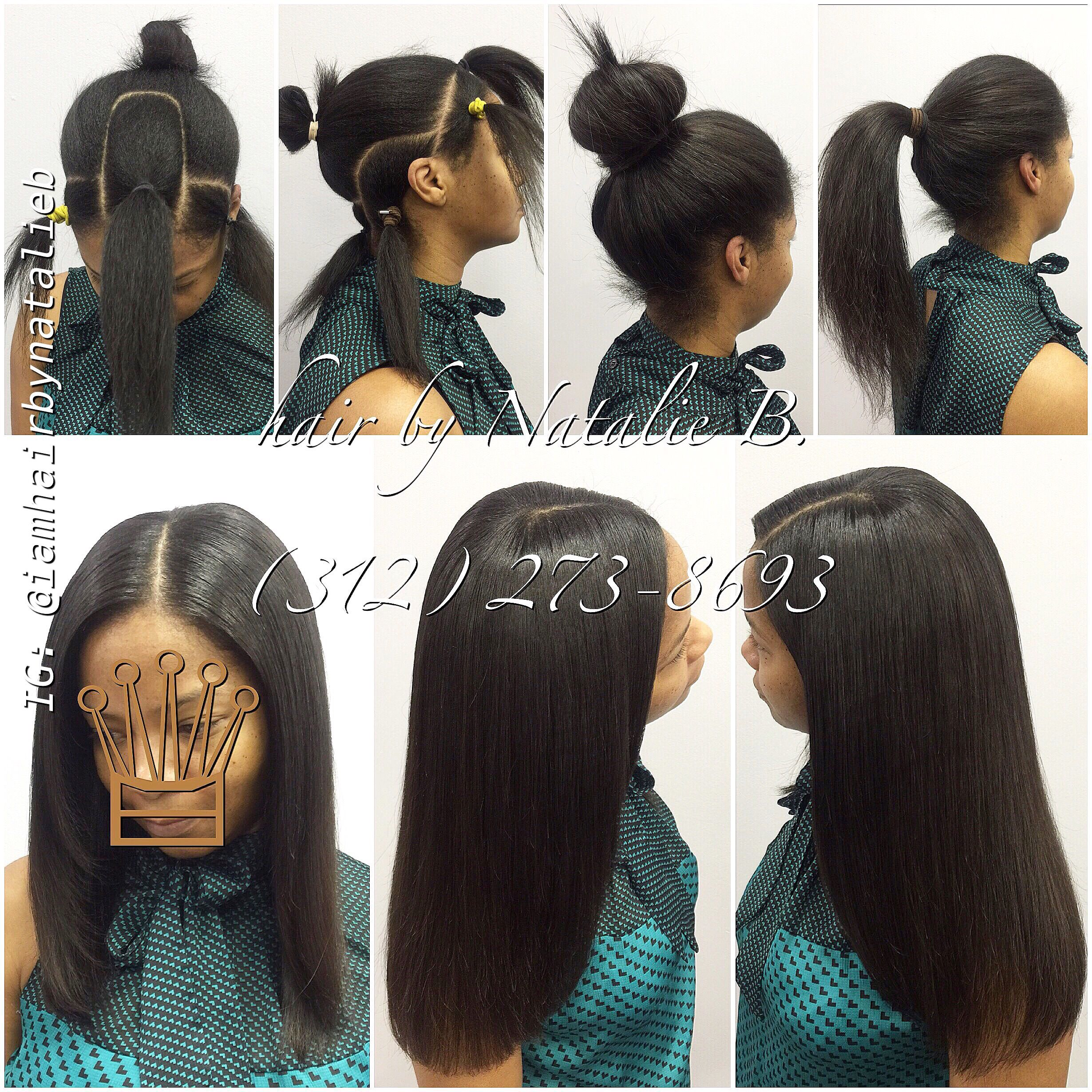 Versatile Sew In Hair Weave Can Be Worn Down Or In A High Bun Or Ponytail Call Or Text Natal Weave Hairstyles Hair Styles Sew In Weave Hairstyles