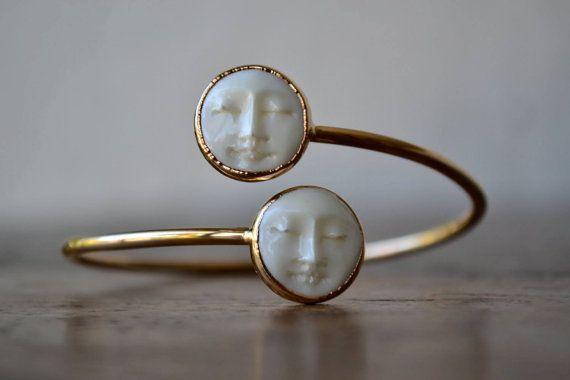 MAN in der MOON RING / / / / Gold Ring, Silber Ring, Statement Ring, Lux göttlich, Luna, himmlische, Boho Schmuck, Damen Accessoires, Geschenk #holidayclothes