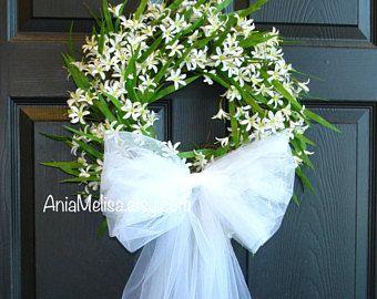First Communion Wreath Wedding Wreaths Front Door Wreaths Wedding