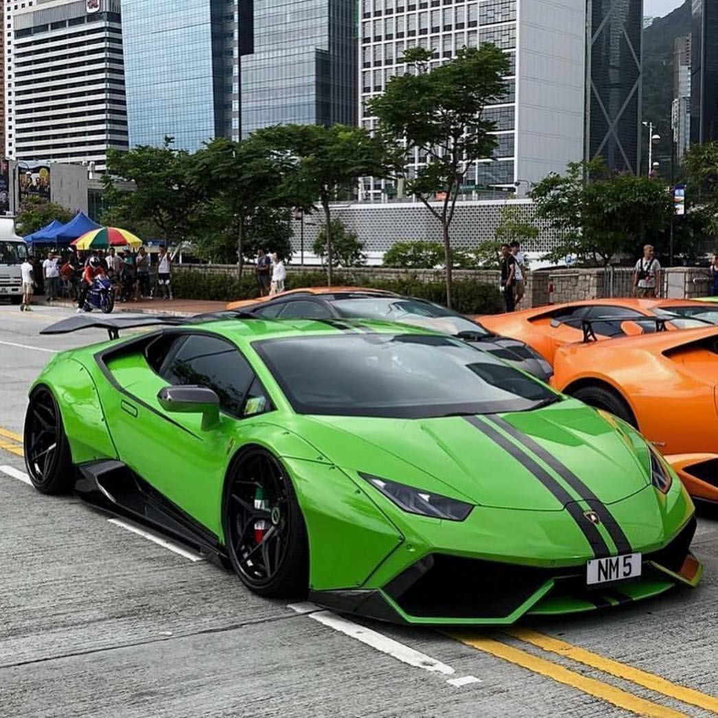 Widebody Green Huracan In Hong Kong On Brixtonforged Reinartdesign