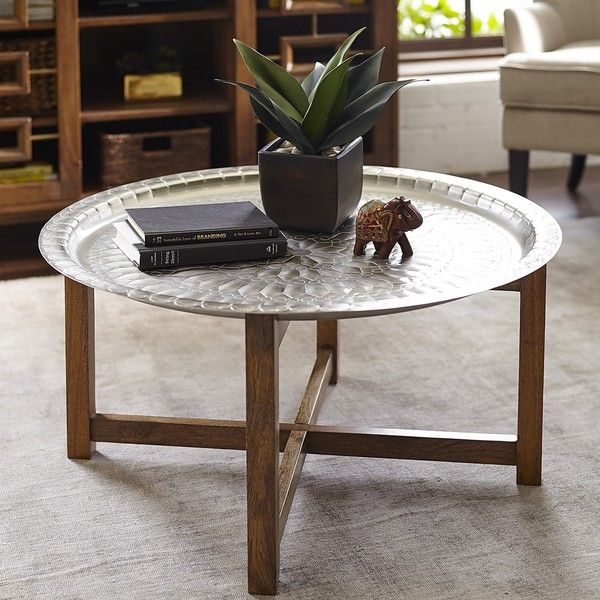 Pier 1 Imports Silver Moroccan Tray Coffee Table 290 Liked