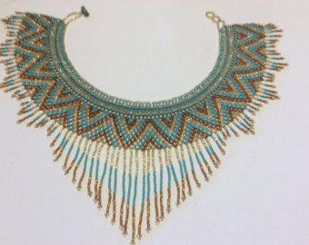 Mano con cuentas collar flecos estilo por Beadsandbaublesdall
