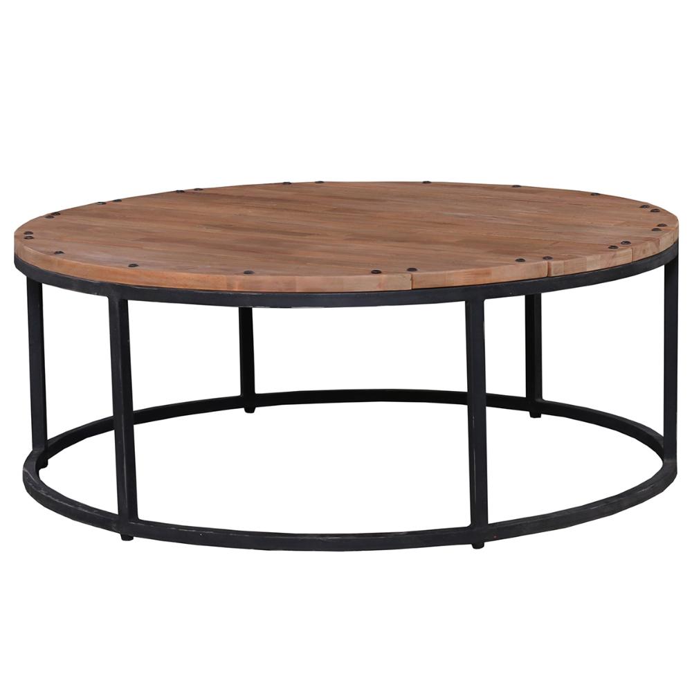 Designer Wood Iron Round Coffee Table Farmhouse Style Coffee Table Coffee Table Round Coffee Table Farmhouse Style Coffee Table
