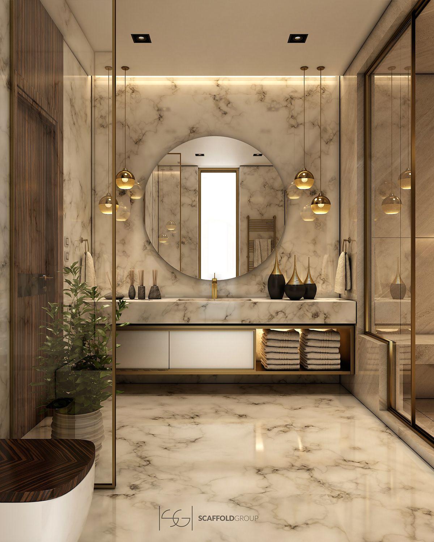 Luxurious Bathroom On Behance Bathroom Inspiration Modern Bathroom Interior Design Bathroom Interior