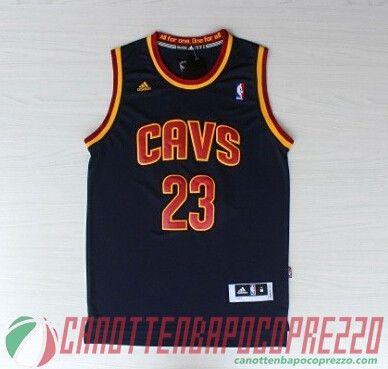 canotte nba poco prezzo Cleveland Cavaliers JAMES 23 blu