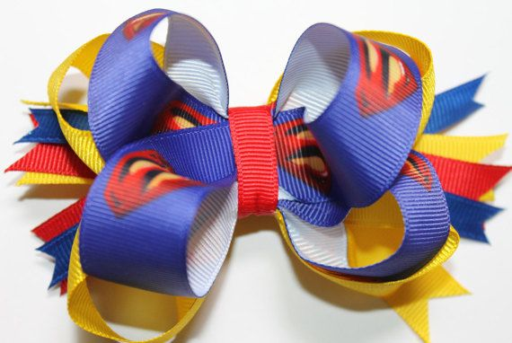super hero hair bow man