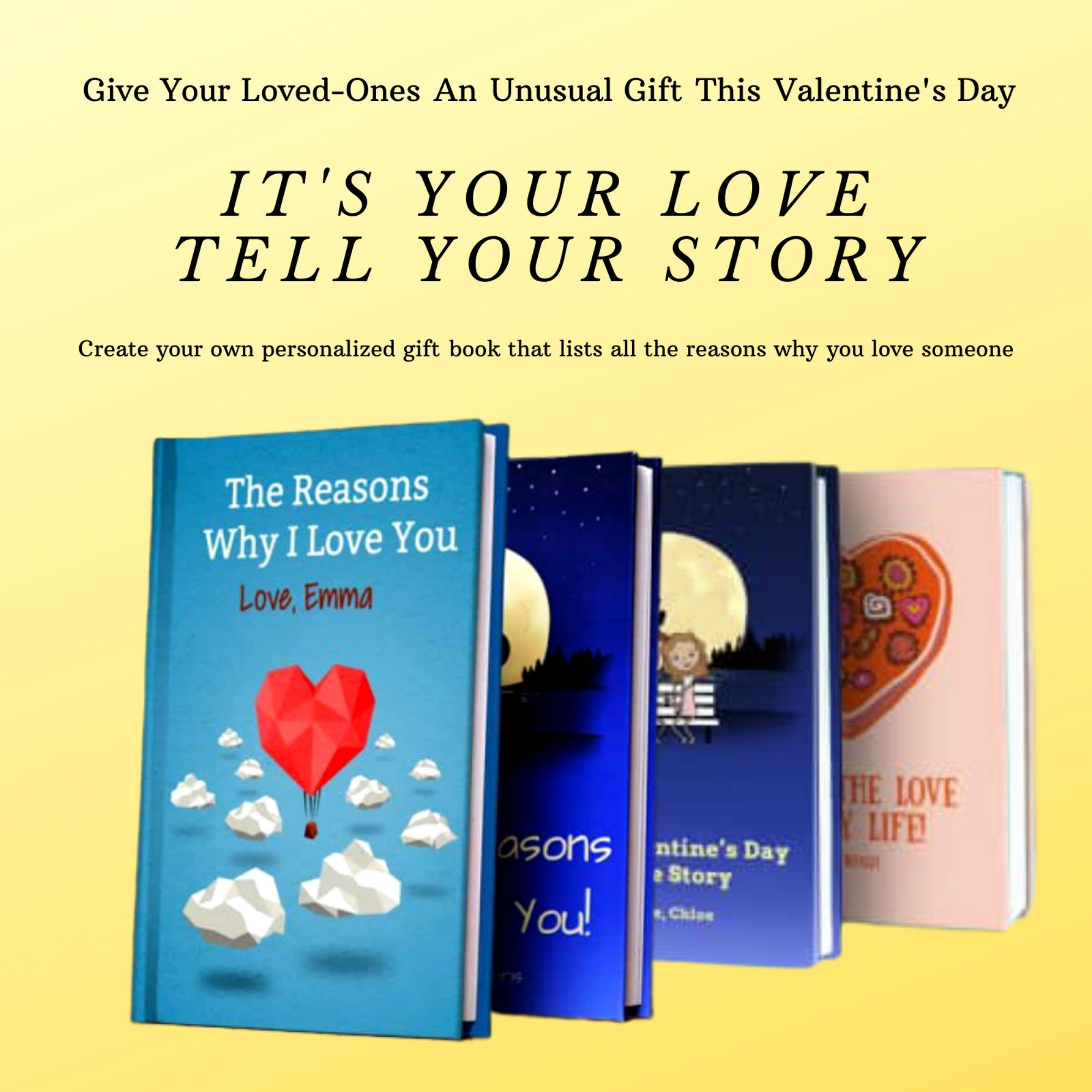 Create Your Own Love Story With Love Book A Personalized Book