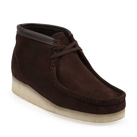 Wallabee Boot-Men in Brown Suede - Mens Boots from Clarks