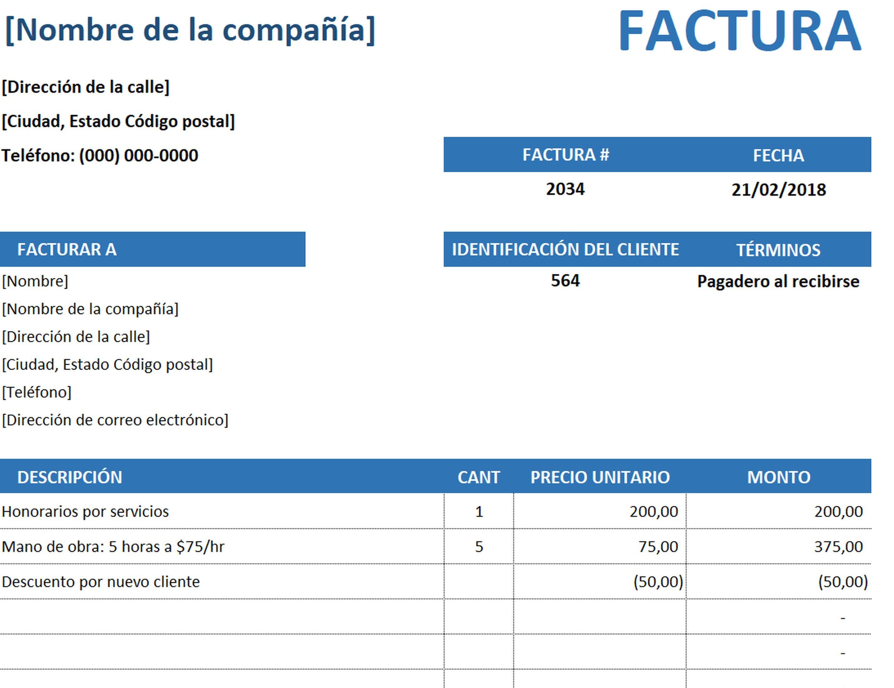 Factura De Servicio Simple Facturas Cartas De Presentacion Tarjeta De Cumpleanos Cristianas Formato de facturas en excel