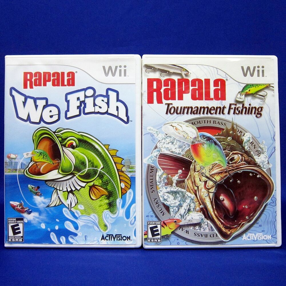 Details about Wii Rapala Tournament Fishing & We Fish Game