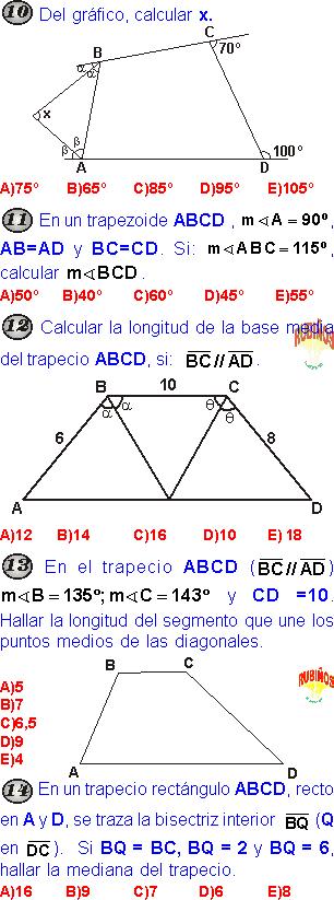 Cuadrilateros Problemas Resueltos Pdf Media Aritmetica Cuadrilateros Trigonometria
