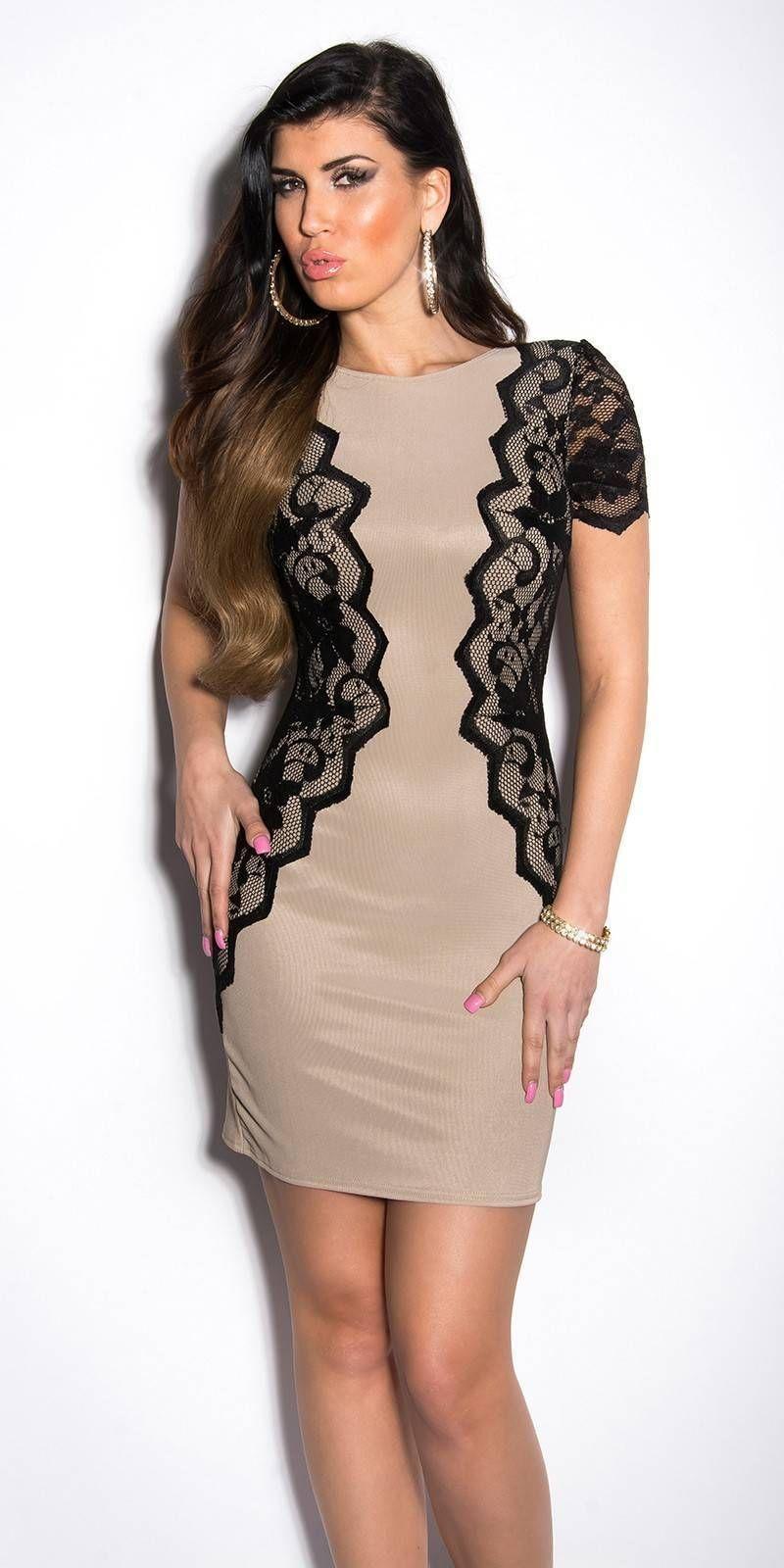 987b951fe7 Női alkalmi ruha, oldalt csipkés   Csábítsel.hu női ruha webáruház ...
