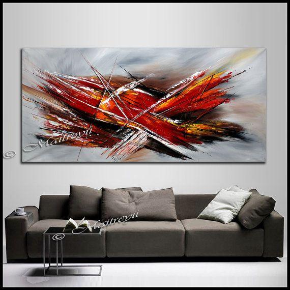 Avion de chasse grand abstrait peinture art mural art for Art contemporain abstrait