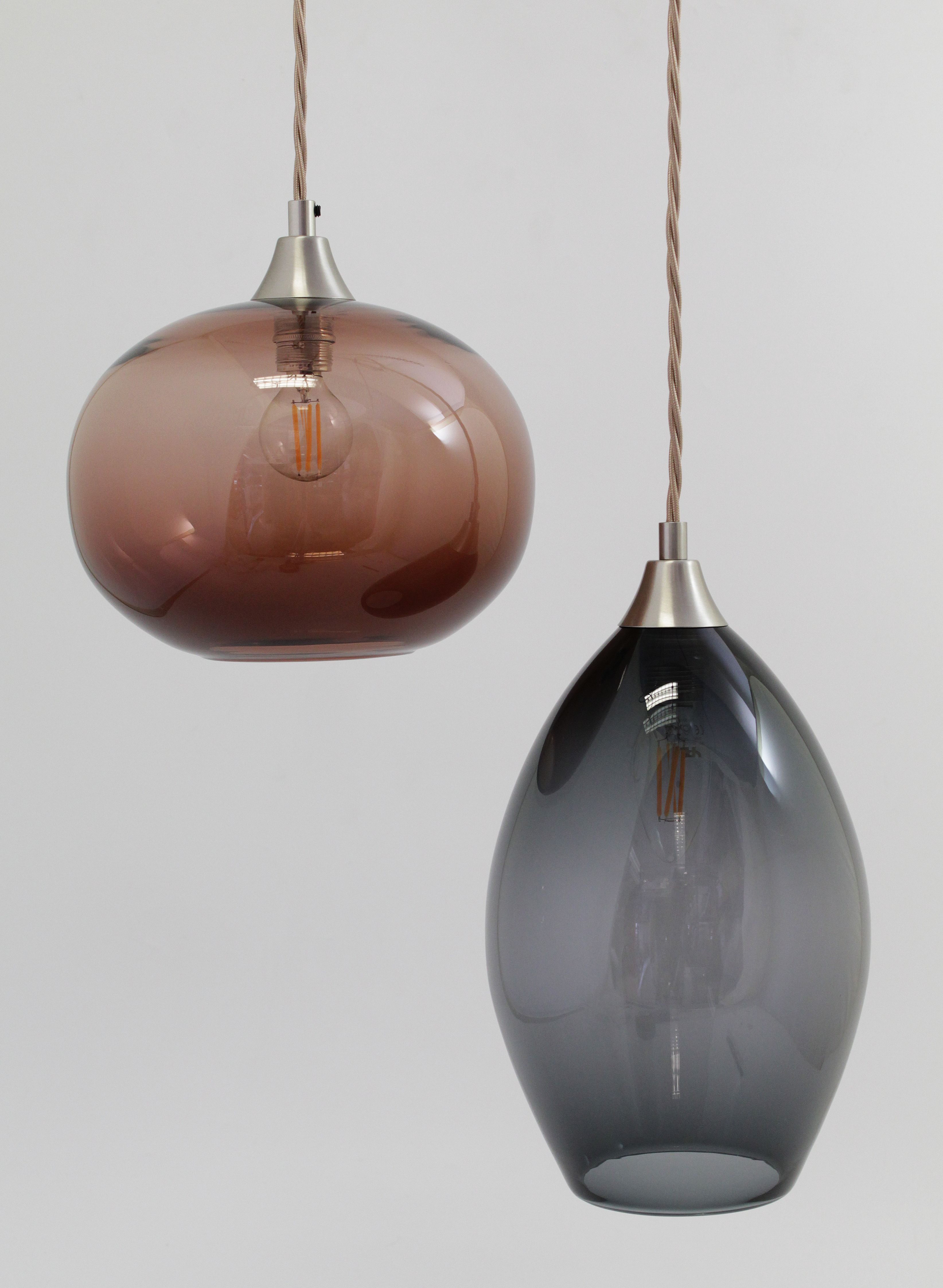 A Pair Of Bespoke Hand Blown Glass Light Shades In 2019