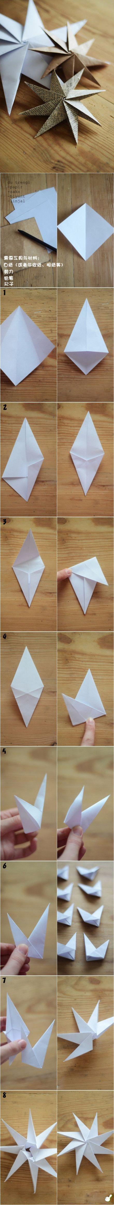 Per chi è abile nell'arte dell'origami non dovrebbe trovare difficile realizzare queste stelline di carta! DIY Paper Stars diy craft crafts craft ideas easy crafts diy ideas diy crafts easy diy kids crafts paper crafts kids craft