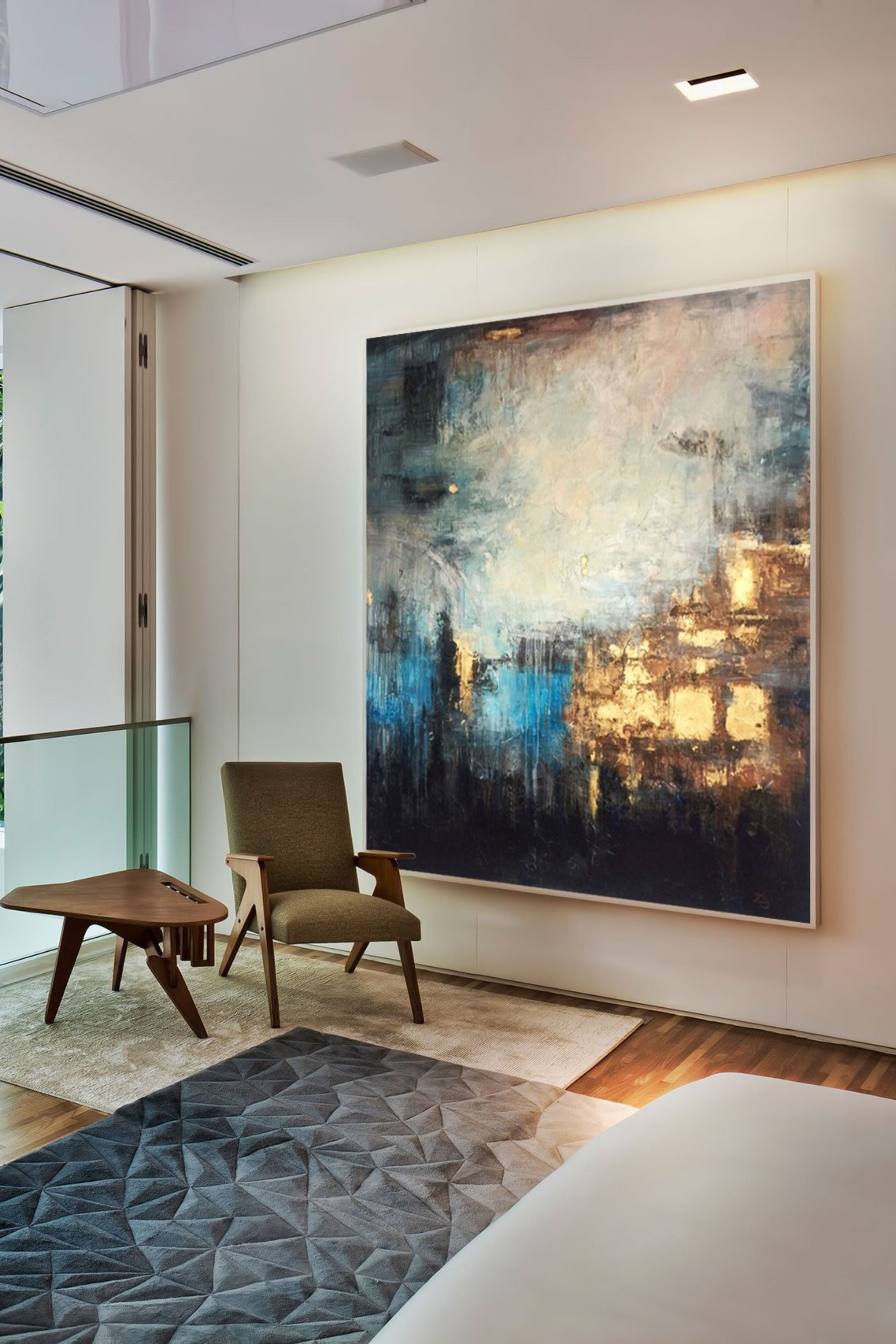 Colorful Painting Large Abstract Gold Oil Painting Etsy Colorful Wall Art Oil Painting Abstract Colorful Wall Art Canvas