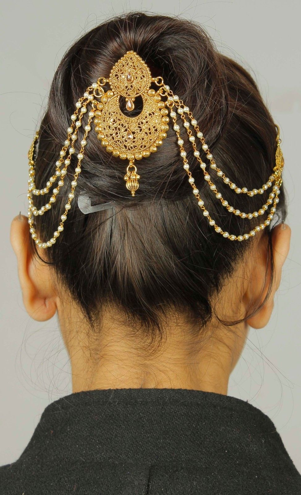 details about ethnic indian women hair accessory wedding
