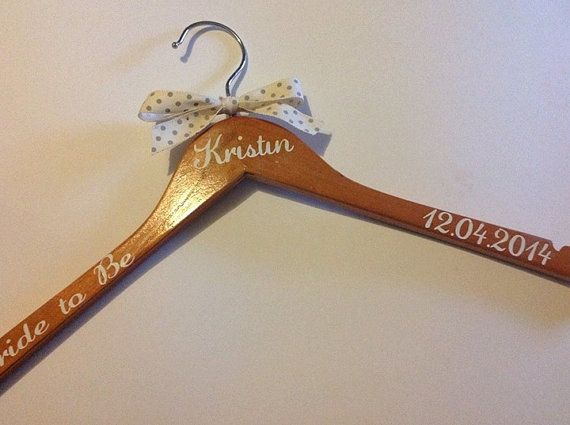 Personalised wedding coat hanger stickers decals by tillyflopsuk £1 50