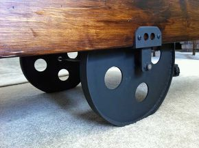 Diy Factory Cart Coffee Table, Painted Furniture, Woodworking Projects, I  Made The Axle