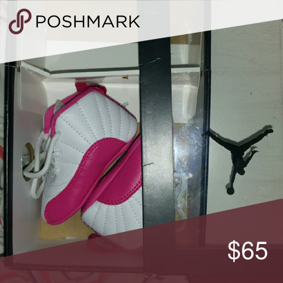 cheap for discount fb2f9 aac54 Infant jordan 12s Pink and white size 1c only wore a few ...