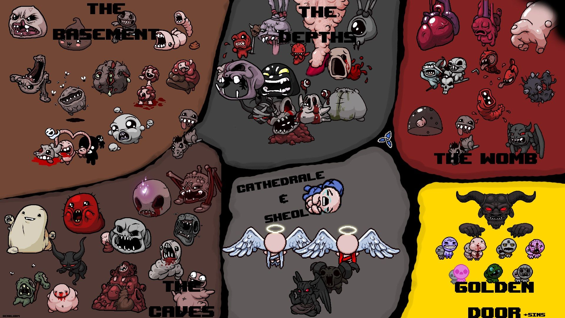 1920x1080 Px The Binding Of Isaac Rebirth Wallpaper By Dudley Bishop For Twd The Binding Of Isaac Isaac Binding