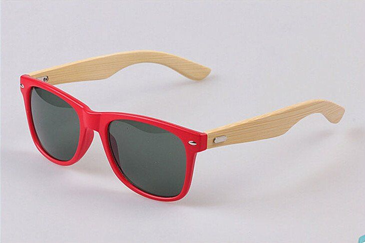 Brand Designer Vintage Bamboo Wooden Sunglasses