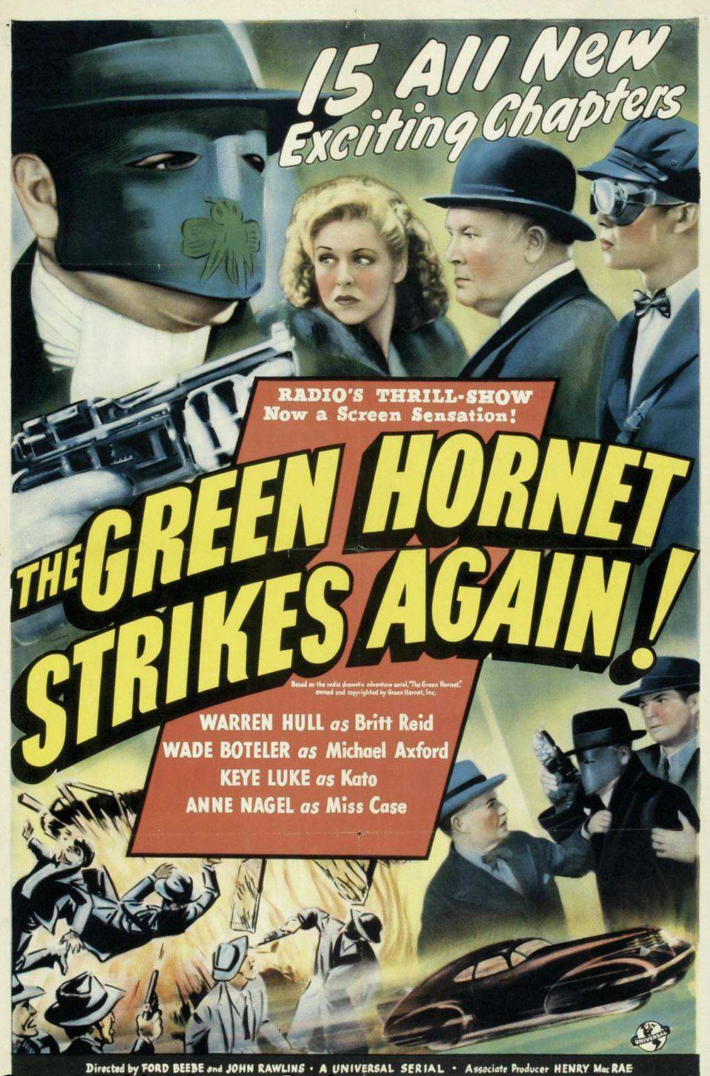 The Green Hornet Strikes Again! (1940)   Green hornet ...