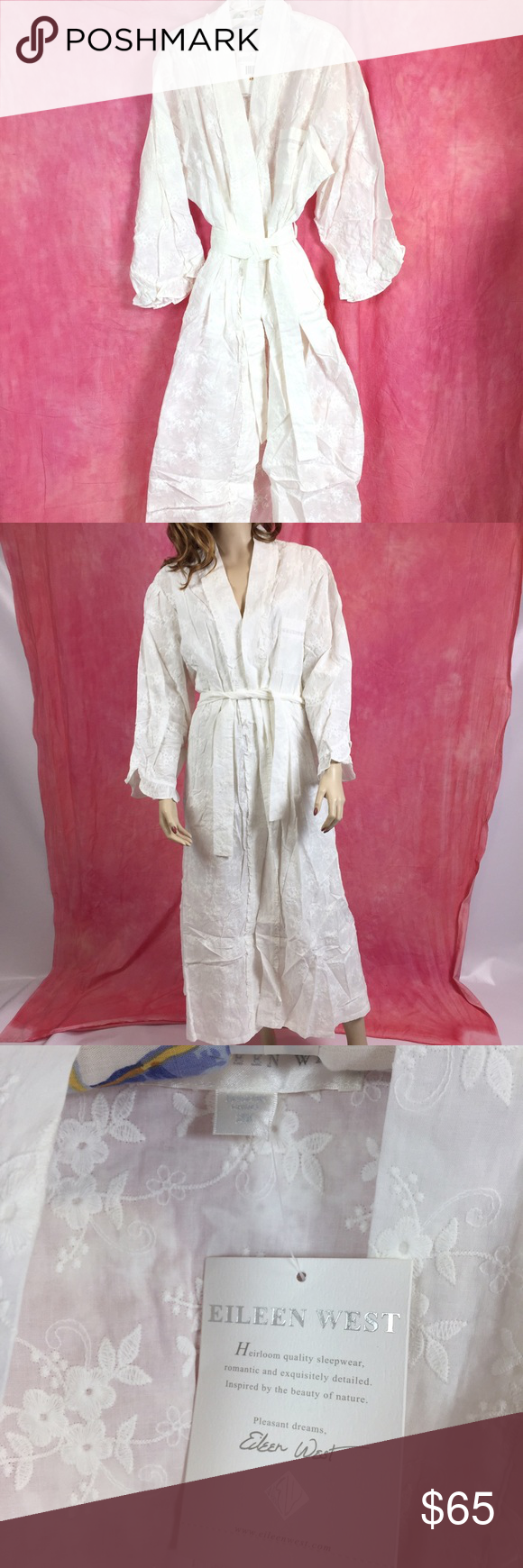 Selling this NWT EILEEN WEST EMBROIDERED WHITE ROBE SIZE 2X on Poshmark! My username is: daphsam. #shopmycloset #poshmark #fashion #shopping #style #forsale #Eileen West #Other