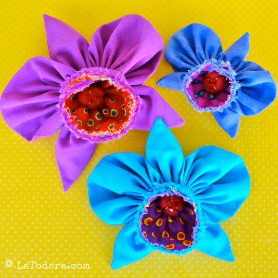 Fabric Flower Wedding Bouquet Tutorial: Kanzashi Flowers Pin Brooch Orchid Pattern PDF Pattern