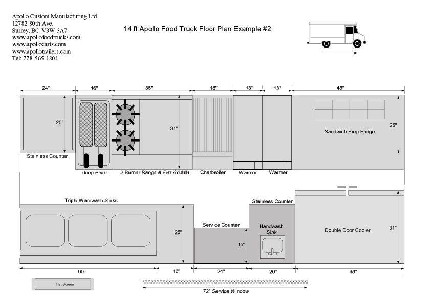 Food truck floor plan picturesque food truck floor plan for Food truck blueprints