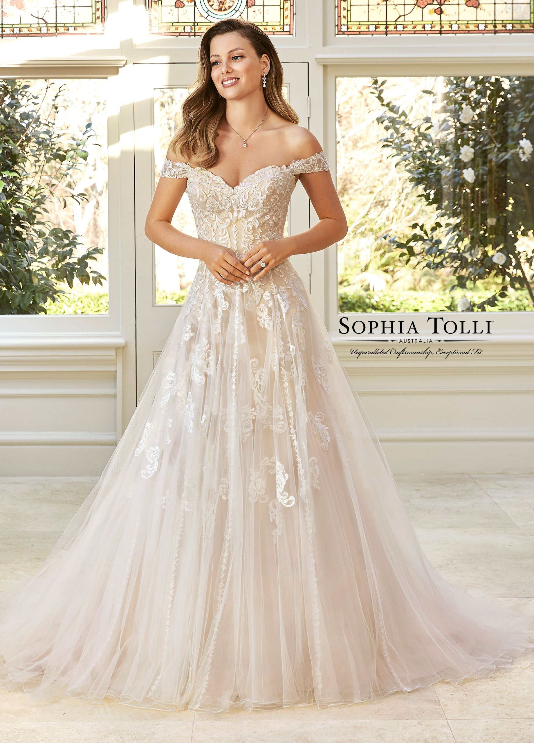 21353aa7 Sophia Tolli Y11949 Adrienne - Elegant and timeless, Adrienne is a misty  tulle A-line gown with a transformable neckline to suit your style!