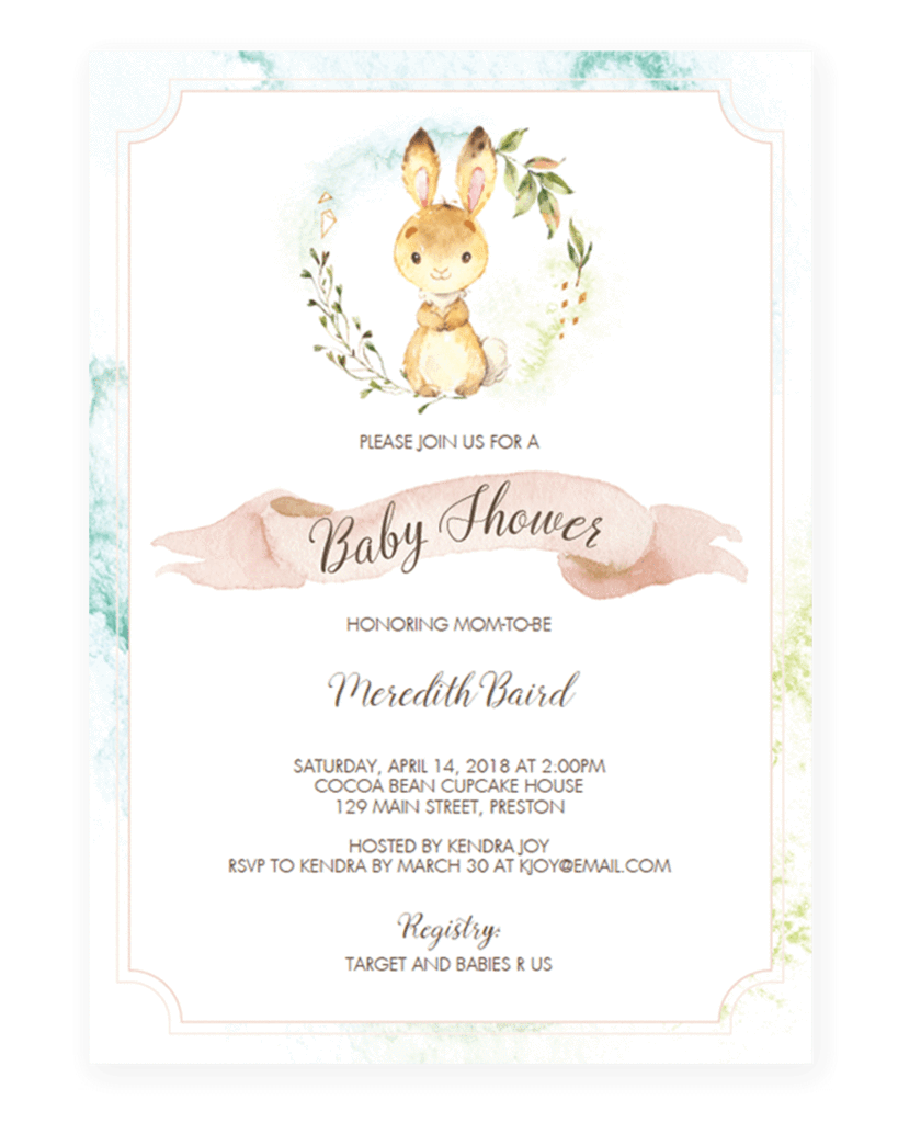 Garden Themed Baby Shower Welcome Sign Template Bunny Baby Shower Invites Bunny Baby Shower Baby Shower Invitation Templates