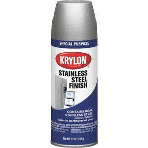 Krylon Stainless Steel Finish Appliance Spray Paint Stainless Steel Paint Stainless Steel Spray Paint Krylon
