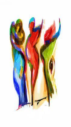 Los Tres Alegres Compadres II Digital Art by Rafael Salazar