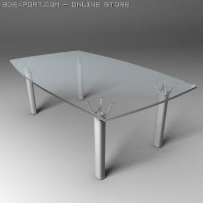 3D Model Lucine Glass Desk c4d, obj, 3ds, fbx, ma, lwo 19738