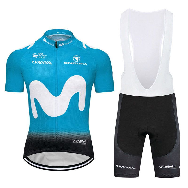 2018 New Cycling Jersey Men/'s Bike Clothing Sets Bib Short Sleeve Bicycle Shorts