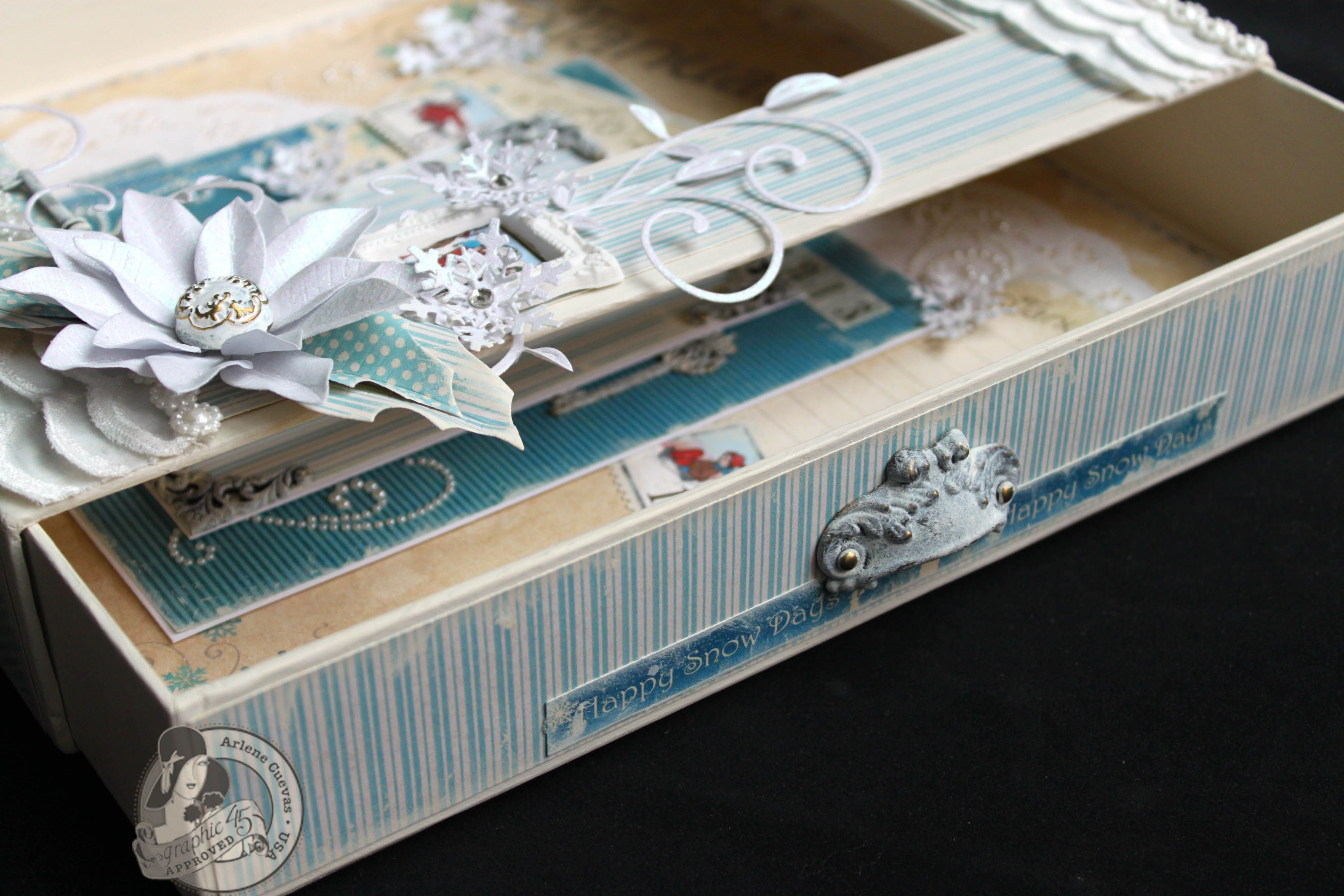 altered boxes scrapbooking for kids gifts | Place In Time Altered Matchbook Box/Scrapbook Page - Graphic 45