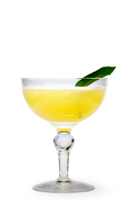 Pina Mexicana Recipe. Pineapple Sugar Syrup Lime Juice Pineapple Juice Sage Leaf Tequilla Cubed Ice Shaker Martini Glass