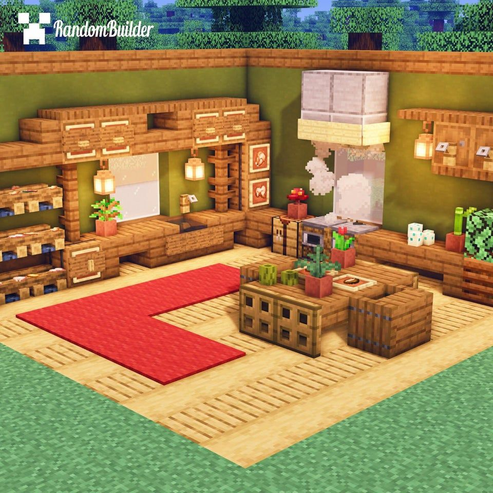 Reddit Minecraft I Built A Simple Kitchen Design What Do You Think Minecraft Cottage Minecraft Interior Design Minecraft House Designs