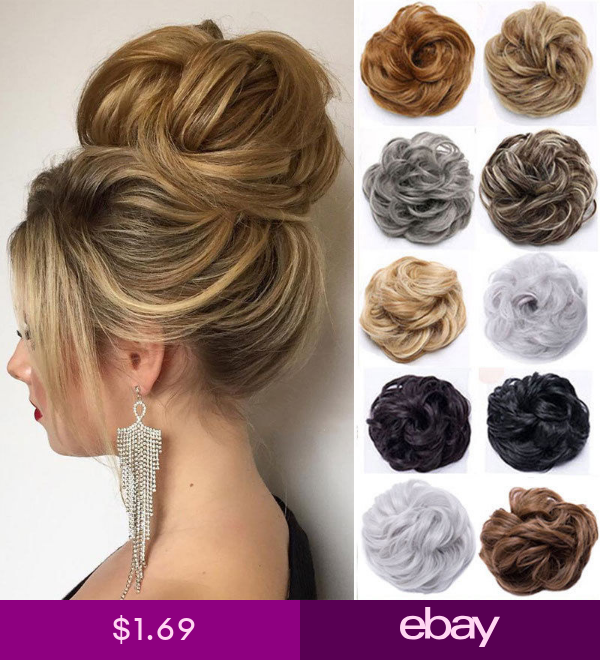 Real Natural Curly Messy Bun Hair Piece Scrunchie Thick Fake Hair Extension Ur Natural Hair Bun Styles Bun Hair Piece Bun Hairstyles