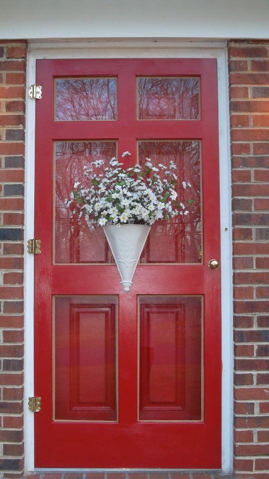 Pin By Noe Cortez On Front Entry Charm Red Front Door Door Decorations Doors