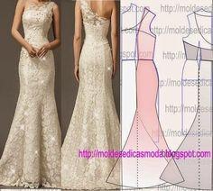Como hacer molde de vestido de novia