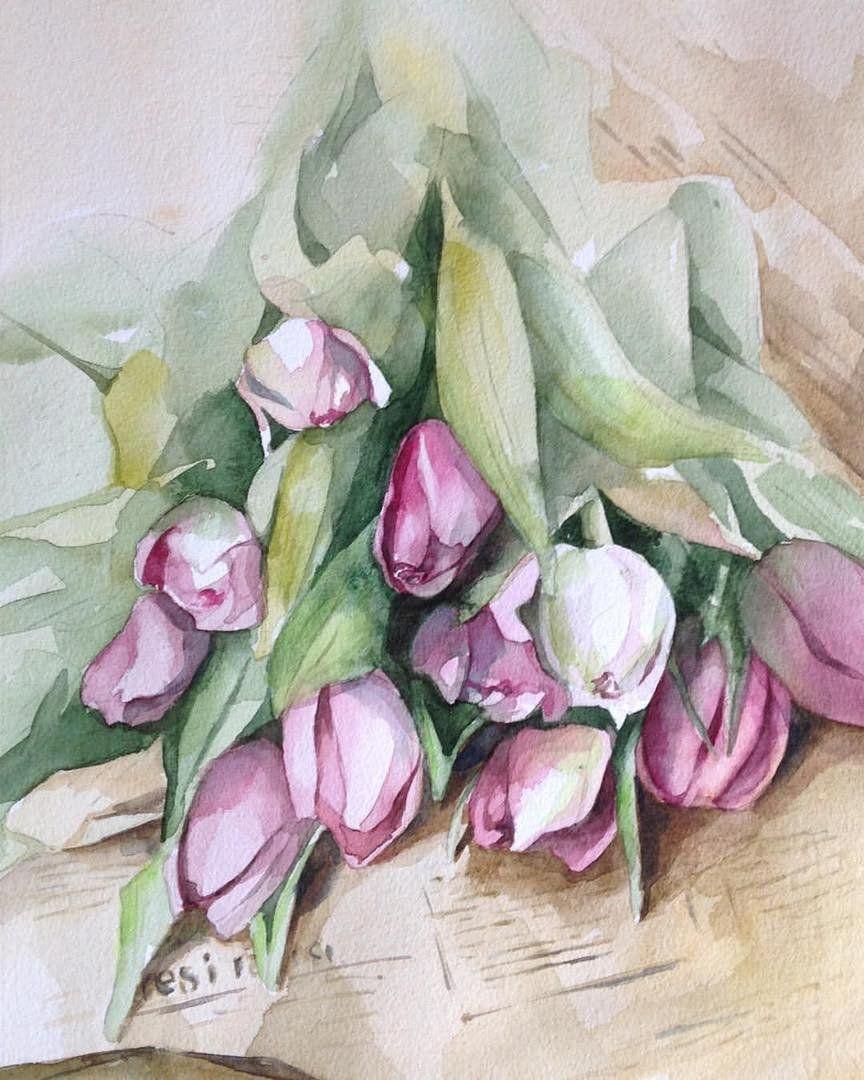 тюльпаны открытка рисунок загадочный дом читы