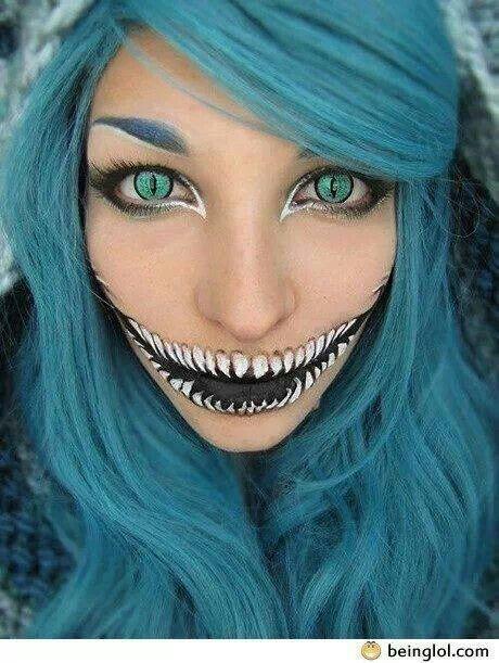 Scary teeth makeup