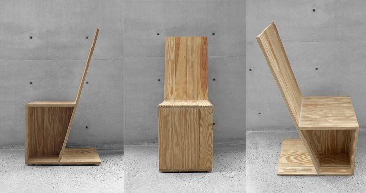 Silla Angular madera