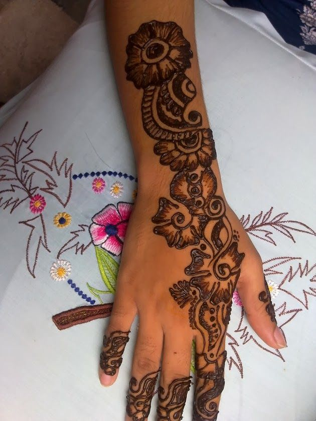 Simple Mehndi Designs For Hands 2014 Fashion Style Pinterest