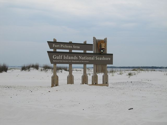 Gulf Islands National Seashore Sign by JuralMS, via Flickr
