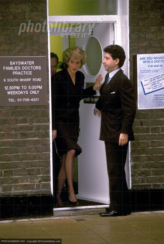 February 22 1989 Diana visits the Bayswater Families Doctors Practice (Primary Health Care Facility for Homeless Families) at 9 South Wharf Road, Paddington.