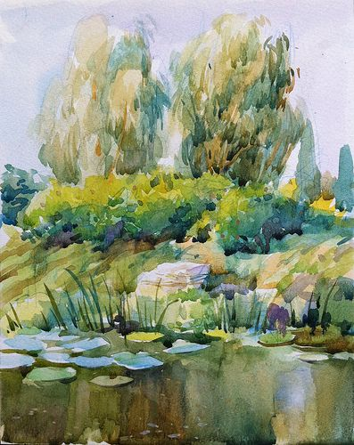River Bank Watercolour Watercolour Inspiration Watercolor Art Watercolor